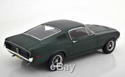 1/12 Scale 1968 BULLITT FORD MUSTANG FASTBACK Matte Green Model Car by NOREV