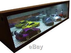 1/18 118 SCALE DIORAMA GARAGE DISPLAY ACRYLIC CASE With LED LIGHT MADE IN JAPAN