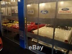 118 Scale DIECAST DIORAMA 4 BAY GARAGE SHOP WITH LIGHTS FORD