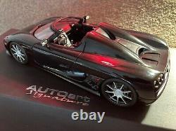 118 scale Koenigsegg CCX by Autoart. (Preowned) Black, With Original Box