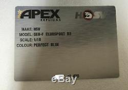 118 scale model car 2013 HSV GEN-F Clubsport R8 Perfect Blue FREE POST #AR81602