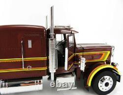 1967 Peterbilt 359 Brown Metallic 118 Scale Semi-truck By Road Kings Rk180081br