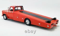 1970 Dodge D-300 Ramp Truck Burnt Orange 118 Scale By Acme A1801900