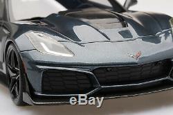 2019 Corvette ZR1 in Dark Shadow Metallic in 118 Scale by Topspeed TS0148