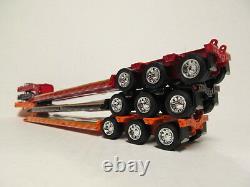 3 Dcp 1/64 Scale Black Orange Red Fontaine Triaxle Lowboy Trailers Detachable