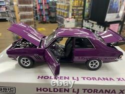37979 Holden Lj Torana Xu-1 Gtr Purr Pull Purple 118 Scale Die Cast Model Car