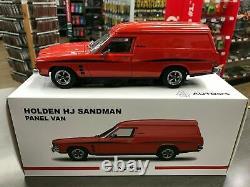 830263 Holden Hj Sandman Mandarin Red Panel Van 118 Scale Die Cast Model Car
