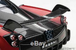 AUTOart 78276 Pagani Huayra BC, Rosso Dubai/Carbon 118TH Scale
