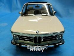 AUTOart Millennium 2002 BMW BAUR CABRIOLET WHITE 1/18 SCALE DIECAST RARE