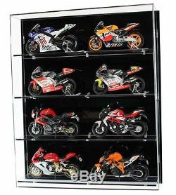Acrylic Model Wall Display Case for 112 Scale Motorcycles 4 Shelves