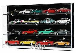 Acrylic Model Wall Display Case for 143 Scale Model Cars 4 Shelves