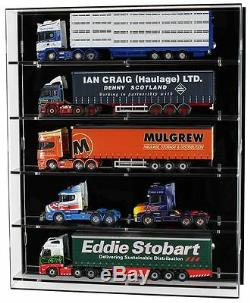 Acrylic Model Wall Display Case for 150 Scale Model Trucks 5 Shelves