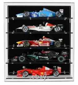 Acrylic Wall Display Case for Five Large Modern 118 Scale Model F1 Cars