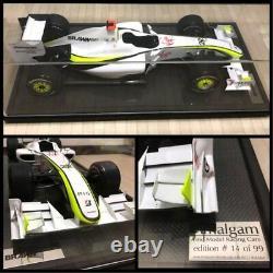 Amalgam Brawn BGP 001 J. BUTTON Grand Prix 2009 1/8 Scale Diecast Model LE 99