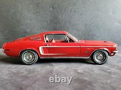 AutoArt Millennium 1968 Ford Mustang GT 390 Fastback Red 118 Scale Diecast Car
