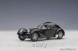 Autoart Bugatti Type 57SC Atlantic Black with disc wheels 1/43 Scale New Release