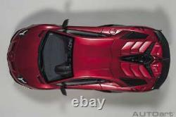 Autoart Lamborghini Aventador SVJ Rosso Efesto in 1/18 Scale New Release