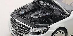Autoart MERCEDES BENZ MAYBACH S-KLASSE S600 WHITE 1/18 Scale New! In Stock