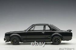 Autoart NISSAN SKYLINE GT-R KPGC-10 RACING 1972 BLACK 1/18 Scale New Release