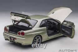 Autoart Nissan Skyline GT-R (R34) V-spec II NUR Millenium Jade 1/18 Scale New