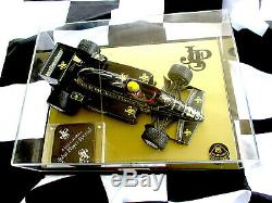 Ayrton Senna Jps Big 1/12 Scale Model With Display Case & Signatures