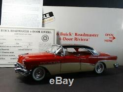 Danbury Mint 1956 Buick Roadmaster Riviera 4-Door 124 Scale Diecast Model Car