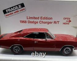 Danbury Mint 1968 Dodge Charger R/T 1/24 Scale Limited Edition RARE RED COLOR
