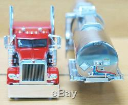 Dcp 1/64 Scale 379 Peterbilt 60'' Bunk Red/black With Brenner Chemical Tanker