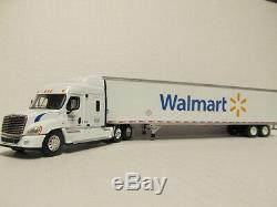 Dcp 1/64 Scale Freightliner Cascadia (wal-mart) Cab With Dry Van Trailer #32182