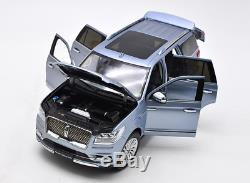 Dealer Edition Lincoln Navigator 1/18 Scale Diecast Car Model Toy SILVER BLUE