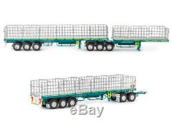 Drake Maxitrans Freighter B Double & Road Train Trailer Set Toll Scale 150
