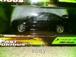 Fast and Furious 1995 Honda Civic Black 118 scale diecast model car new in box