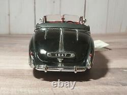Franklin Mint 1947 Bentley MK VI Convertible 124 Scale Diecast Model Car Black