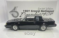 GMP 1/18 Scale 1987 Buick Grand National DRAG VERSIONRARE BLACK And MINT WOW