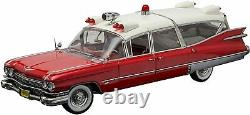 Greenlight 118 Scale 1959 Red Cadillac Superior Ambulance Diecast Model PC18001