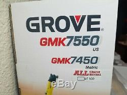 Grove GMK7550 Mobile Crane (All Crane) by NZG 150 Scale Diecast Model #526 New