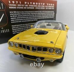 Highway 61 1/18 Scale 1971 Plymouth Cuda NASH BRIDGES Very Rare & Detailed