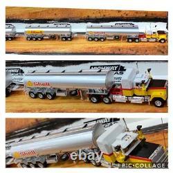 Highway Replicas Shell Tanker Road Train Trailer & Dolly 164 Scale Model Truck