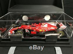 Kimi Räikkönen SIGNED Ferrari SF70H Formula 1 by Amalgam 112 scale, mint COA