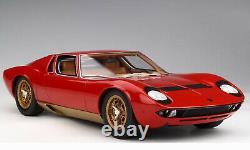 Lamborghini Miura -P400S 1/12 scale Red/Gold accents