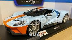 Maisto 118 Scale Ford GT 2019 Blue / Orange Diecast Model Car