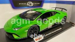 Maisto 118 Scale Lamborghini Huracan Performante Green Diecast Model Car