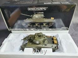 Minichamps M4A3 WWII Sherman Tank 135 Scale Diecast D-Day War Model