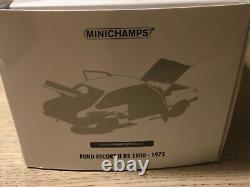 Minichamps Rare 1/18 scale FORD ESCORT Mk2 RS1800 BDA ROAD CAR White (1/660)