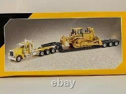 NORSCOT 150 Scale Peterbilt 389 Lowboy CAT D8R Track-Type Tractor Diecast 55207