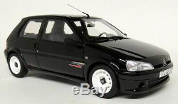 Otto 1/18 Scale Peugeot 106 Rallye Phase 2 Black Resin Model Car
