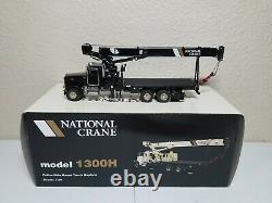 Peterbilt 357 National 1300H Boom Truck Black TWH 150 Scale #048-01036 New