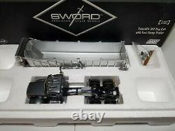 Peterbilt 357 with East Dump Trailer Grey Sword 150 Scale Model #SW2044-G New