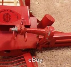 RARE 1/16 Scale Diecast McCormick- Deering Grain Wheat Binder Brochure Pull Type