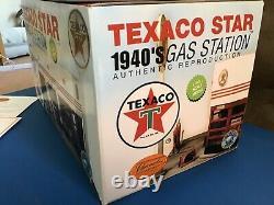 Rare1940. TEXACO, PETROL SERVICE STATION GARAGE DIORAMA. 1/43 Scale. CORGI DINKY